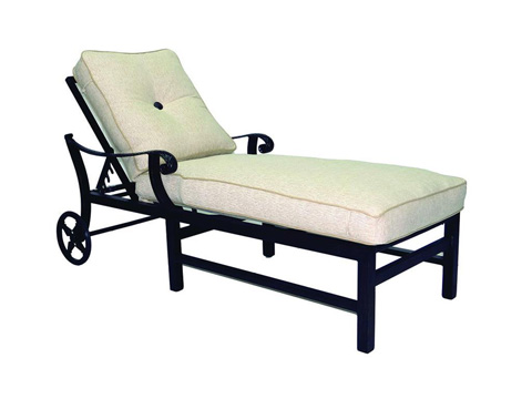 Image of Bellagio Adjustable Cushioned Chaise Lounge