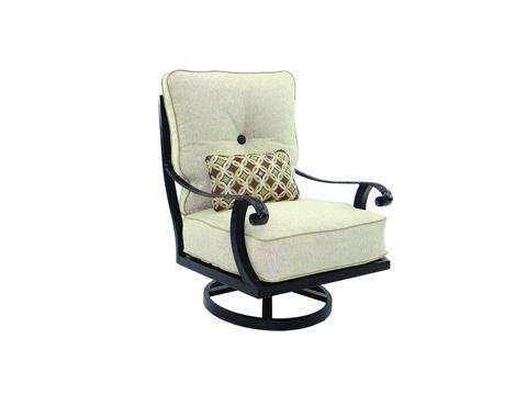 Image of Bellagio High Back Cushioned Lounge Swivel Rocker
