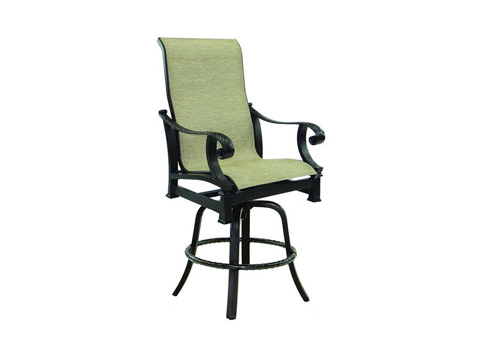 Castelle - Bellagio High Back Sling Swivel Counter Stool - 2699MS