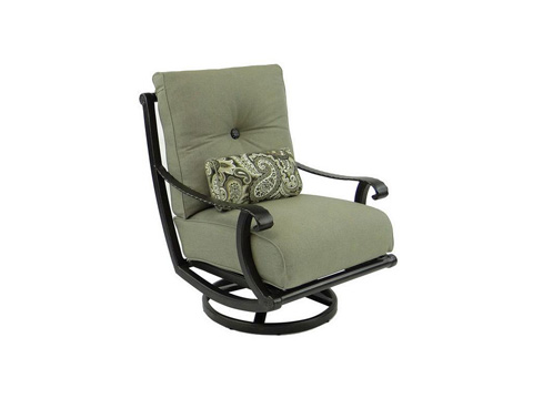 Image of Telluride High Back Cushioned Lounge Swivel Rocker