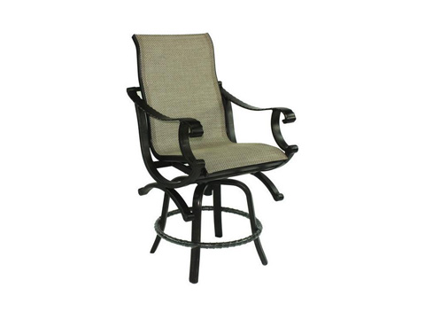Image of Telluride High Back Sling Swivel Counter Stool