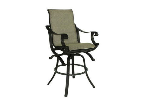 Castelle - Telluride High Back Sling Swivel Barstool - 2869S