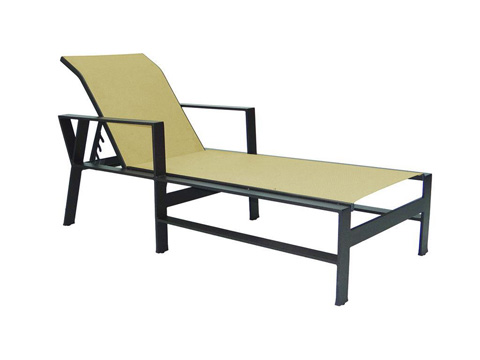 Image of Trento Adjustable Sling Chaise Lounge