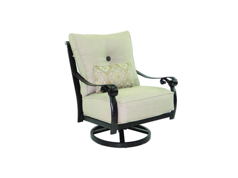 Image of Bellanova High Back Cushioned Lounge Swivel Rocker