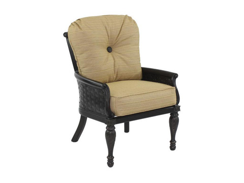 Image of English Garden Cushioned Dining Chair