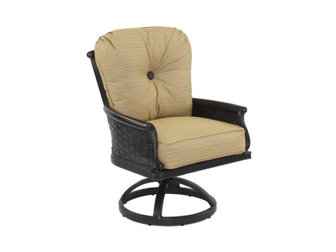 Image of English Garden Cushioned Swivel Rocker