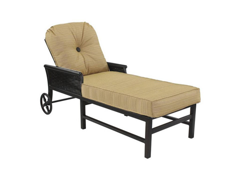 Image of English Garden Cushioned Chaise Lounge