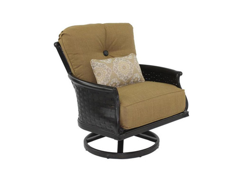 Image of English Garden Cushioned Lounge Swivel Rocker