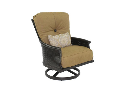 Image of English Garden High Back Lounge Swivel Rocker