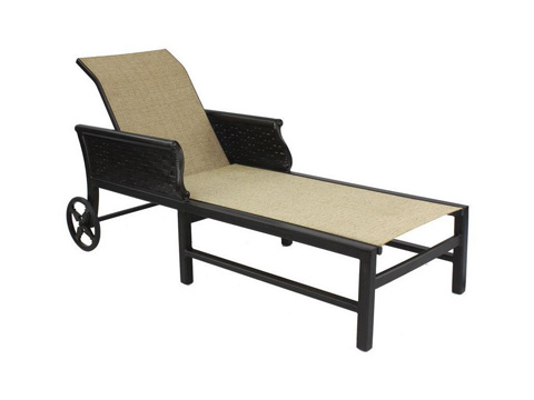 Image of English Garden Sling Chaise Lounge