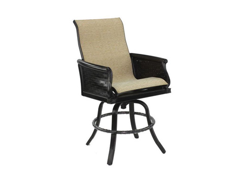 Image of English Garden High Back Swivel Counter Stool