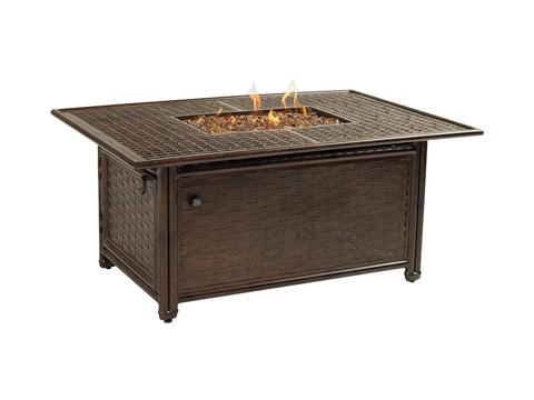 Castelle - Resort Fire Pit Rectangular Coffee Table - BRF32CWL