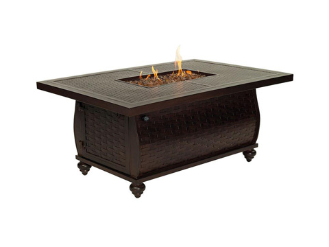 Castelle - French Quarter Fire Pit Rectangular Coffee Table - QRF32CWL