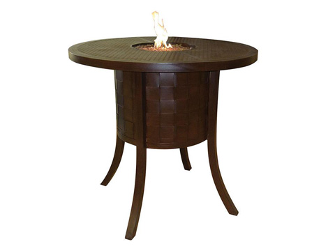 Castelle - Classical Fire Pit Round Bar Table - VHF48WL