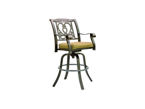Image of Madrid Cast Swivel Barstool