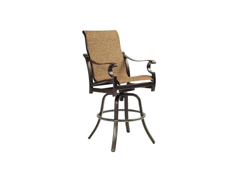 Image of Monterey High Back Sling Swivel Barstool