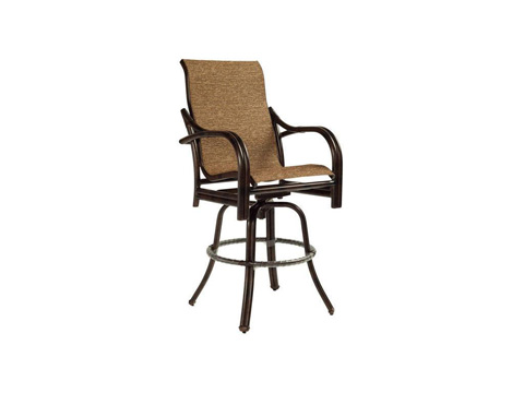 Image of Sundance High Back Sling Swivel Barstool