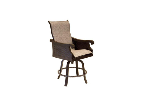 Image of Jakarta High Back Sling Swivel Counter Stool