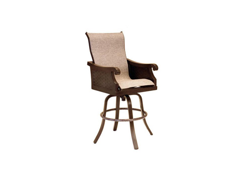 Image of Jakarta High Back Sling Swivel Barstool