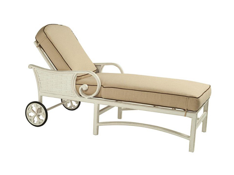 Image of Riviera Cushioned Chaise Lounge