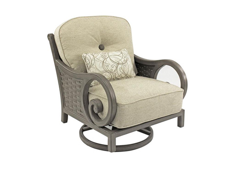 Image of Riviera Cushioned Lounge Swivel Rocker
