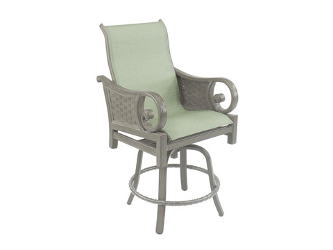Image of Riviera High Back Sling Swivel Counter Stool