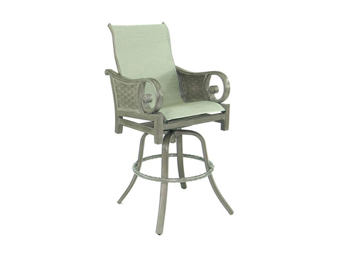 Image of Riviera High Back Sling Swivel Barstool