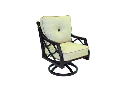 Image of Villa Bianca Cushioned Swivel Rocker