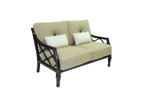 Image of Villa Bianca Cushioned Loveseat