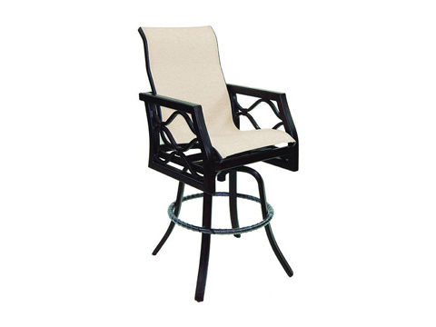 Image of Villa Bianca High Back Sling Barstool