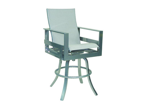 Image of Eclipse High Back Sling Swivel Bar Stool
