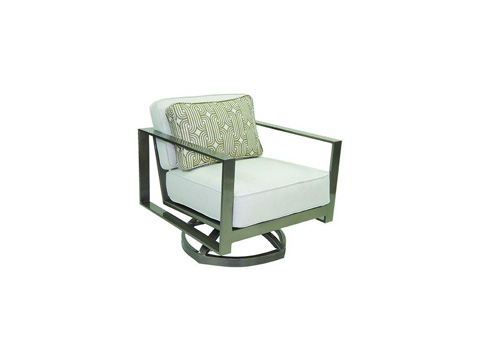 Image of Park Place Cushioned Lounge Swivel Rocker