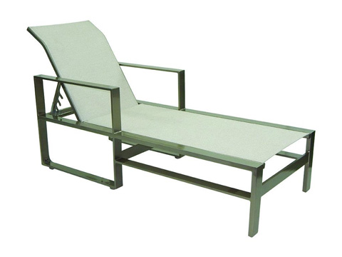 Castelle - Park Place Adjustable Sling Chaise Lounge - 2272S