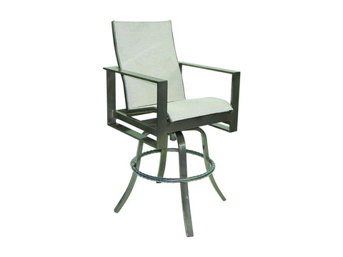 Image of Park Place High Back Sling Swivel Barstool