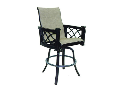 Image of La Reserve High Back Sling Swivel Barstool