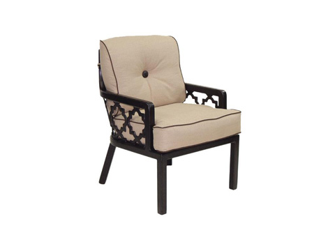 Image of Belle Epoque Cushioned Lounge Dining Chair