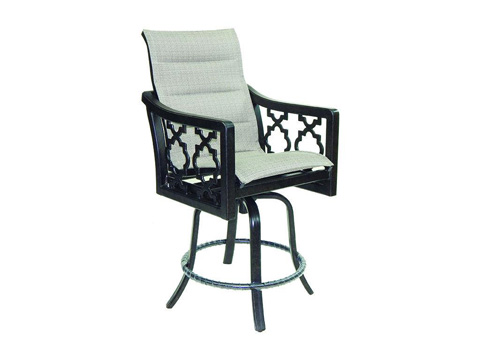 Image of Belle Epoque Padded High Back Sling Counter Stool