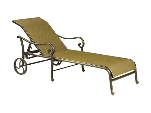 Image of Heritage Adjustable Sling Chaise Lounge