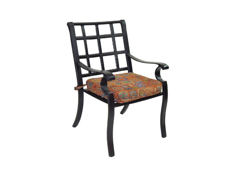 Image of Monterey Cast Dining Chair with Seat Cushion