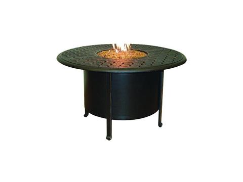 Castelle - Sienna Fire Pit Round Firepit Dining Table - DDF48WL