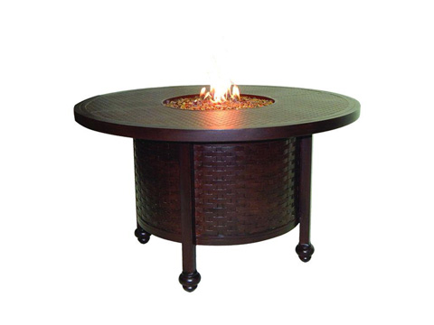 Castelle - French Quarter Fire Pit Round Firepit Dining Table - QDF48CWL