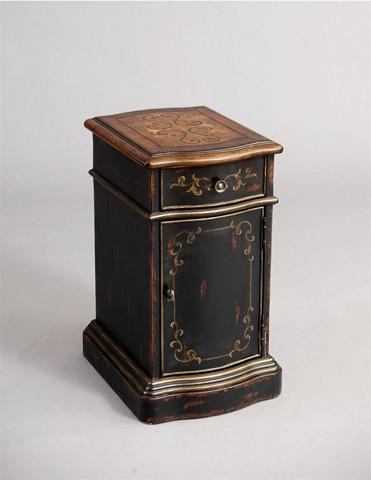 Pulaski - Versailles Black Chairside Table - DS-974036