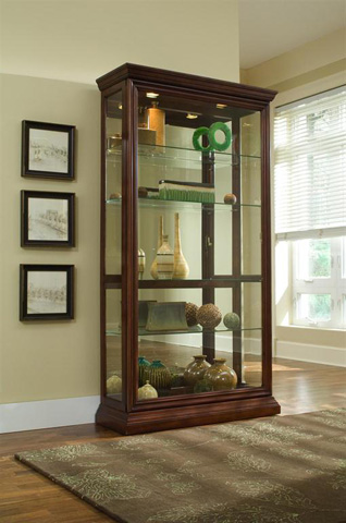 Pulaski - Eden House Two Way Sliding Door Curio - 20542
