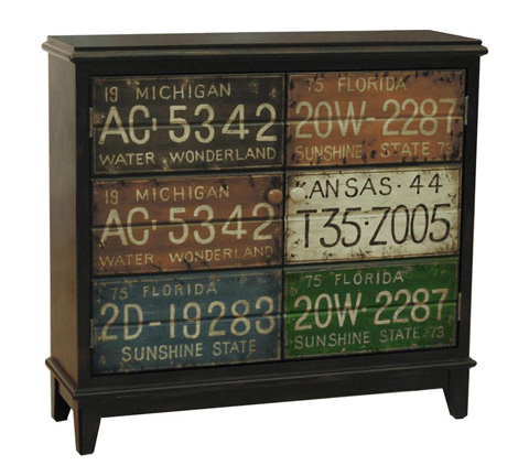 Image of License Plate Motif Hall Chest