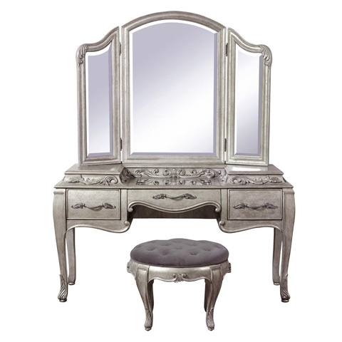 Image of Rhianna Vanity with Mirror and Stool