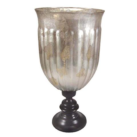 Regina Andrew Design - Antique Silver-Glass Hurricane - 405-311