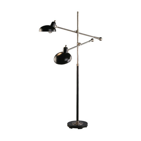 Image of Adjustable Double-Arm Pharmacy Floor Lamp