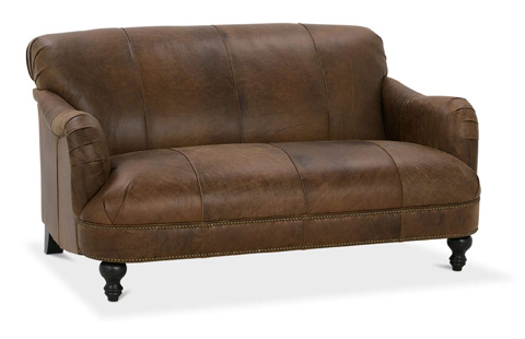 Image of London Leather Settee