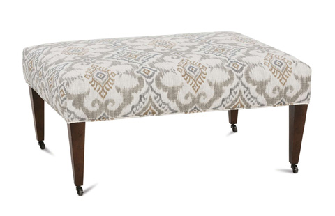 Robin Bruce - Ashby Ottoman with Casters - ASHBY-005