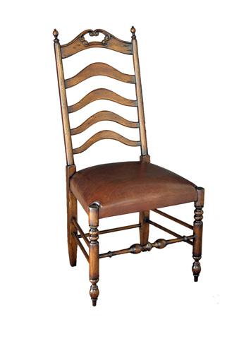 Sarreid Ltd. - Cognac Leather Calgary Side Chair - 25361-3L